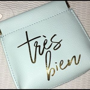 Anthropologie Bags - NWT Anthropologie Tres Bien Coin Purse-Blue/Gold